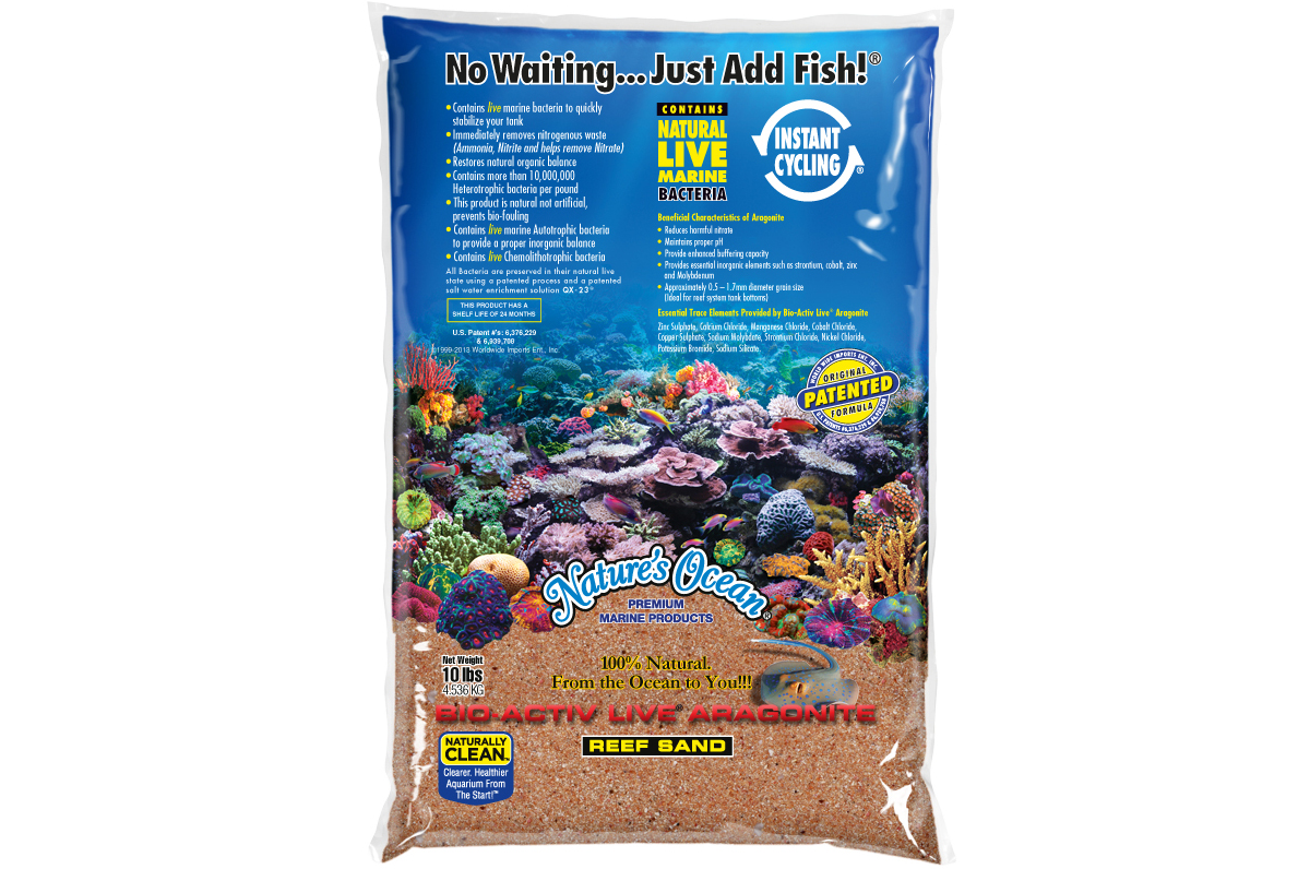 Gold Aquarium Sand for Reef Tanks