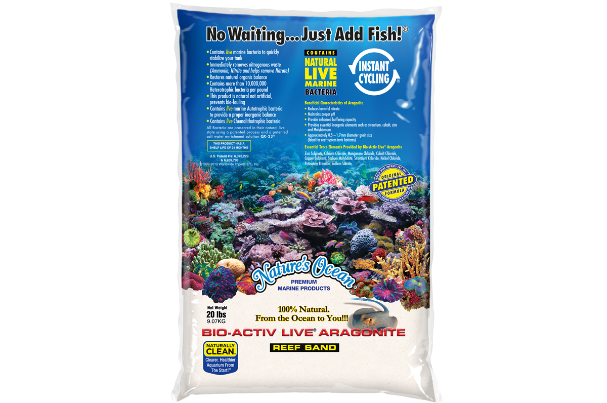 White Aquarium Sand for a Saltwater Fish Tank